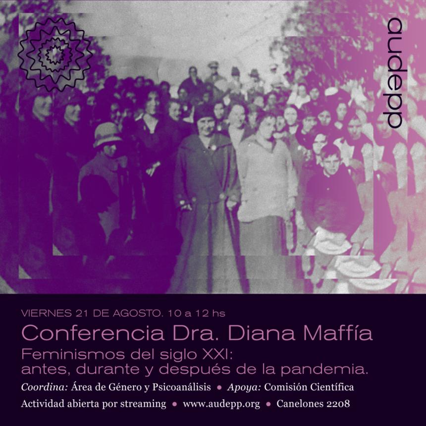 Actividad por streaming: «Feminismos del siglo XXI: antes, durante y después de la pandemia.» Viernes 21 de agosto Hora 10.00