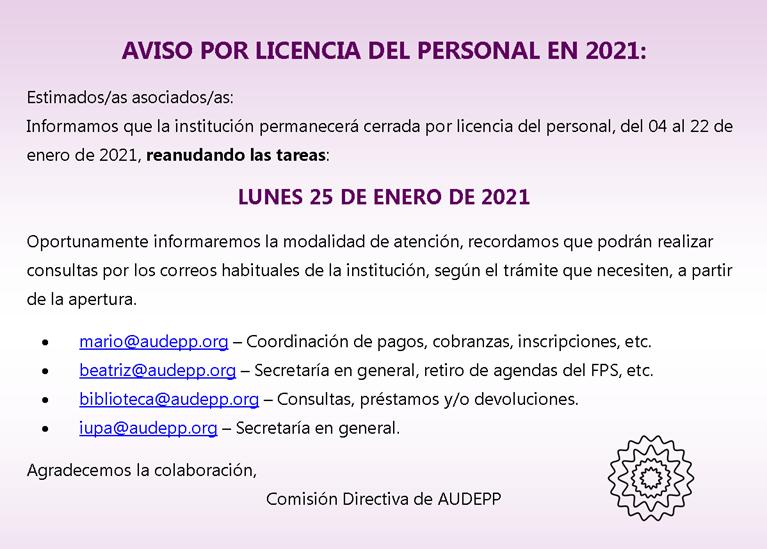 Licencia 2021