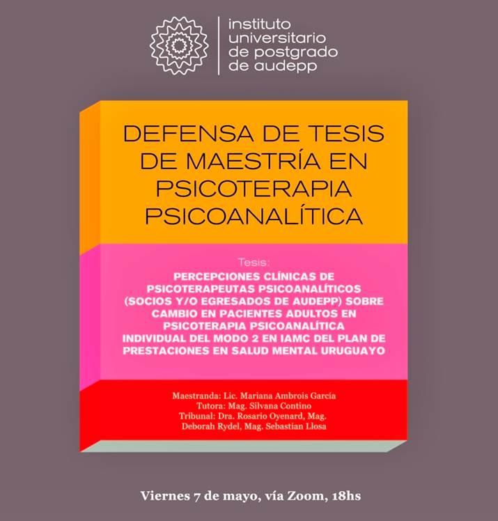 Defensa Tesis Maestría IUPA
