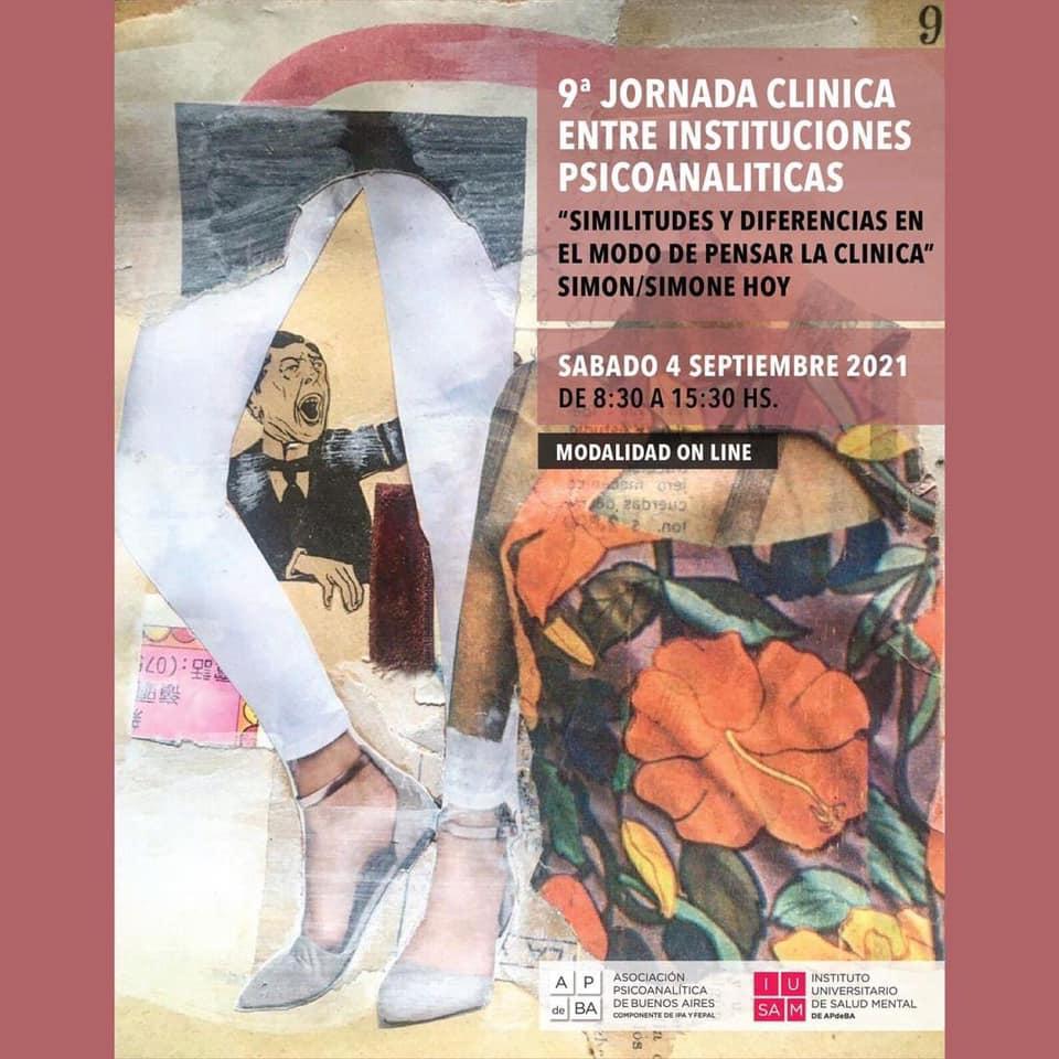 9ª JORNADA CLÍNICA ENTRE INSTITUCIONES PSICOANALÍTICAS sábado 4 de setiembre